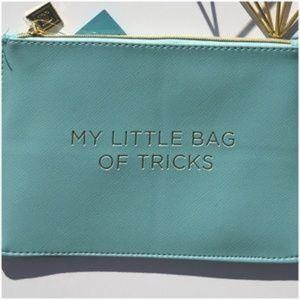 Handbags - Aqua Makeup Bag NWT